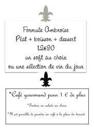 *Café gourmand pour 1 € de plus - Mon Village de la Marque