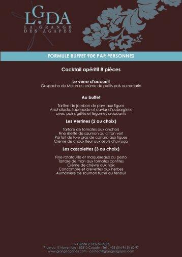 Formules Buffets - La Grange des Agapes
