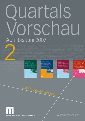 April bis Juni 2007 - VS Verlag