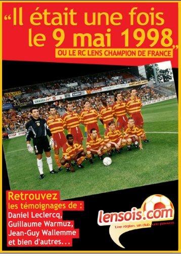"""Télécharger """"Il était une fois le 9 mai 1998"""" - RC Lens"""