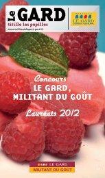 à télécharger - Militant du Goût - Conseil Général du Gard