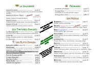 la saladerie les tartines chaudes les plats chauds ... - Bowling Auxerre