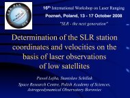Determination of the SLR station coordinates and velocities ... - NASA