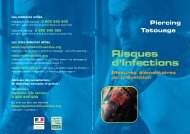 Piercing Tatouage - Risques d'infections - Mesures ... - Inpes
