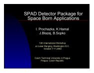 SPAD Detector Package for Space Born Applications
