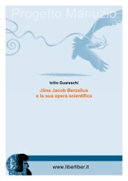 Jöns Jacob Berzelius e la sua opera scientifica - Liber Liber