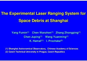The Experimental Laser Ranging System for Space Debris at ...