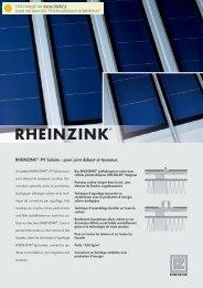 RHEINZINK®-PV Solaire : pour joint debout et tasseaux - Talev