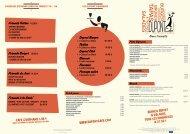 Formule à la Carte* Dupont Burger Tartine Dupont ... - DUPONT Café