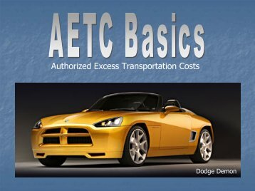 Authorized Excess Transportation Costs - Chrysler