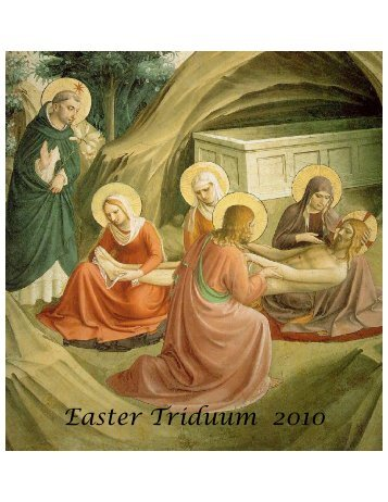 Holy Week 2010 Program St Catherine of Siena NYC.pdf - Communio