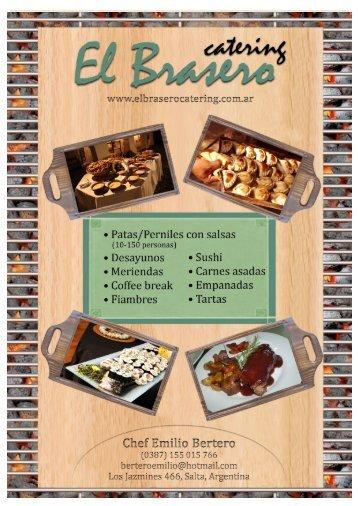 El Brasero Catering - Propuesta Pagina web