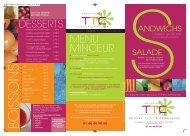 DESSERTS MENU MINCEUR - Restaurant TTC Issy Les Moulineaux