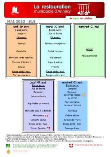 Menu crèche-mai 2013 - Annecy