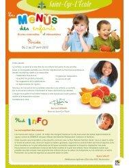 menus du 2 au 27 avril 2012 - Saint-Cyr-l'École
