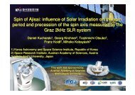 Spin of Ajisai: influence of Solar Irradiation on the spin period and ...