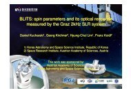 BLITS: spin parameters and its optical response measured by the ...
