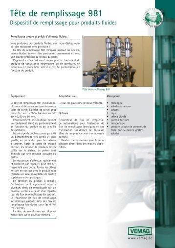 981 FR - VEMAG Maschinenbau GmbH
