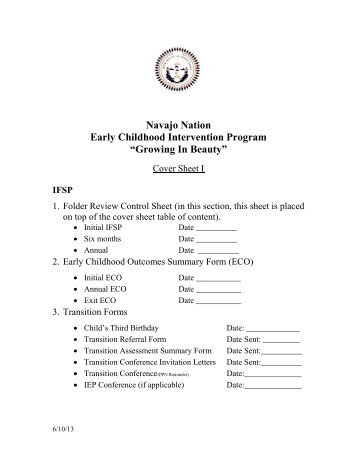 """Navajo nation early childhood intervention program """"growing in"""