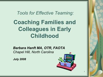 Coaching Families and Colleagues in Early Childhood (PPT ...