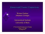 Zimmerwald Counter Comparisons