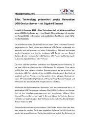 Silex Technology präsentiert zweite Generation ... - Silexeurope.com