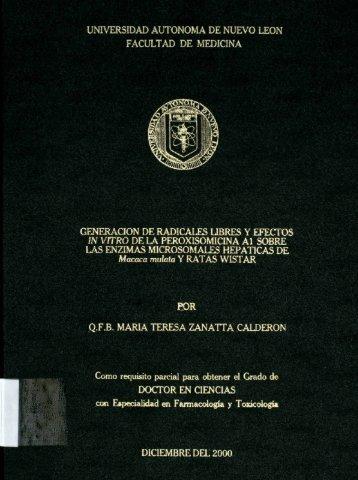 Generación de radicales libres y efectos in vitro de la ...