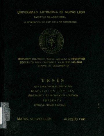Respuesta del trigo (Triticum aestivum L.) - cdigital - Universidad ...