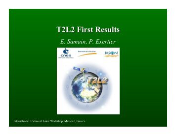 First T2L2 results and time transfers