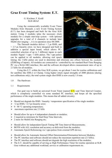 Graz Event Timing System: E.T.