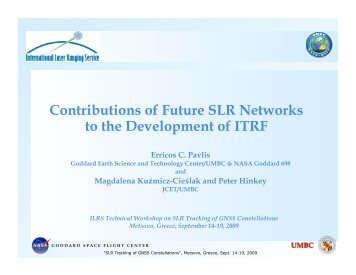 Contributions of Future SLR Networks to the Development of ... - NASA