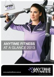 AT A GLANCE 2013 - Anytime Fitness