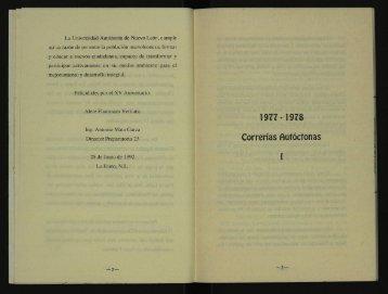 1978. Correrìas autòctonas I. - 1979 - 1980. El cerro de las mitras III.