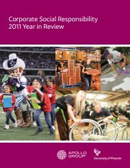 Corporate Social Responsibility 2011 Year in Review - University of ...