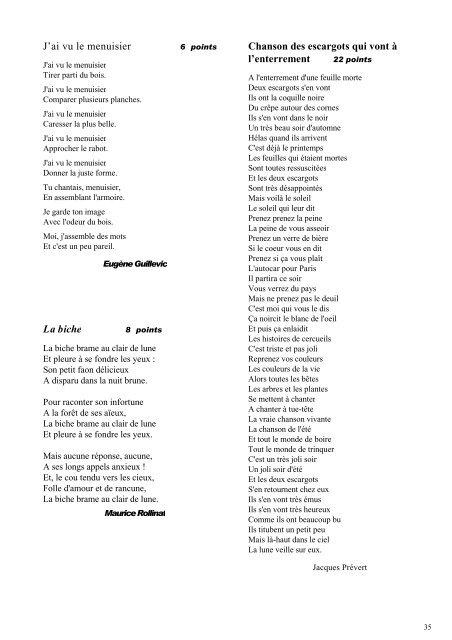Jai Vu Le Menuisier La Biche Chanson Des Escargots Qui Vont