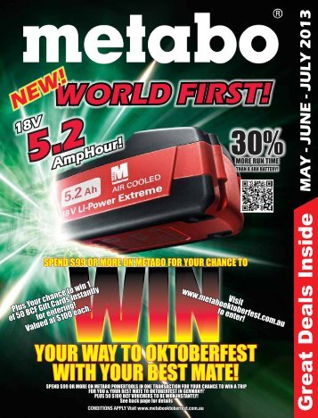 WORLD FIRST! - Metabo