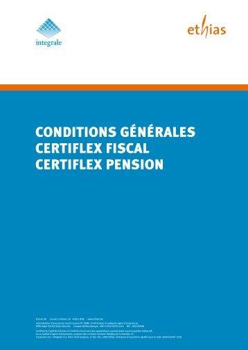 CONDITIONs GéNéRALEs CERTIFLEx FIsCAL CERTIFLEx ... - Ethias