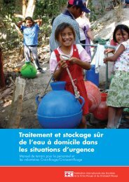 Traitement et stockage sûr de l'eau à domicile dans les situations d ...