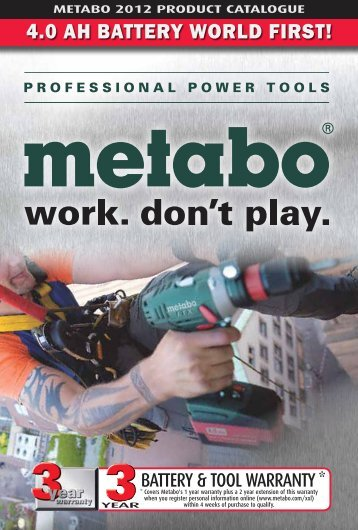 4.0 AH BATTERY WORLD FIRST! - Metabo