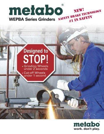 WEPBA Series Grinders - Metabo