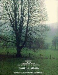 TOME 14-1987-1989 - Commission royale des Monuments, Sites et ...