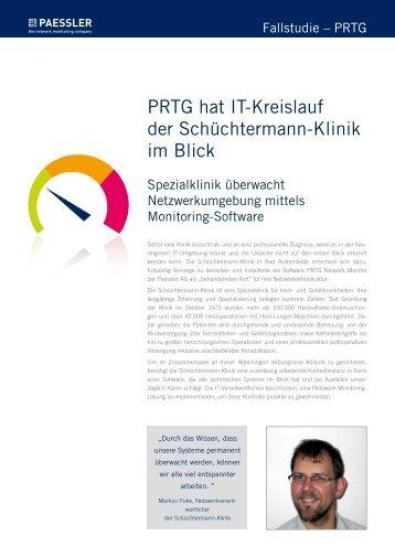 PRTG hat IT-Kreislauf der Schüchtermann-Klinik im Blick - Paessler