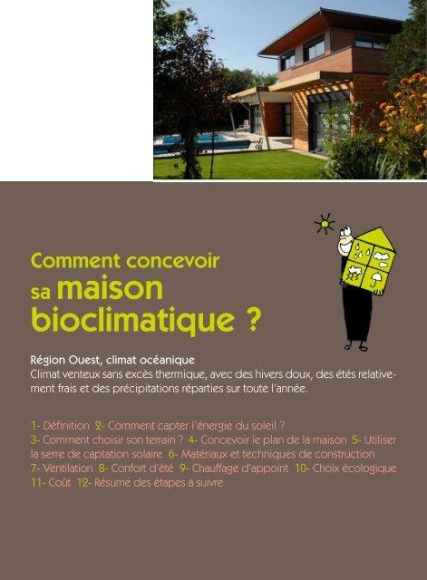 Comment Concevoir Baumard Maison Bioclimatique