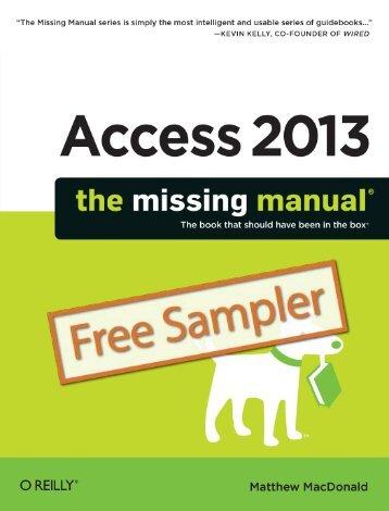 Access 2013: The Missing Manual - Cdn.oreilly.com
