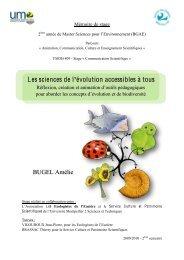 Les sciences de l 'évolution accessibles à tous - Master écologie ...