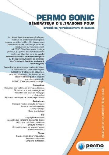 Générateur d'ultrasons pour traitement de l'eau PERMO SONIC