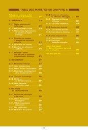 TABLE DES MATIÈRES DU CHAPITRE 5 - DAAF Réunion