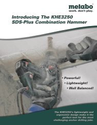 Introducing The KHE3250 SDS-Plus Combination Hammer - Metabo