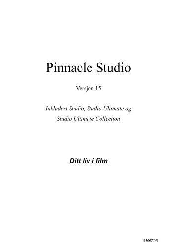 Pinnacle Studio 15 Manualen