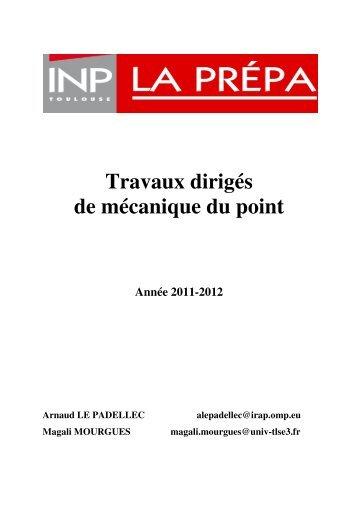 cours mecanique de point pdf